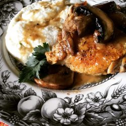 Low Carb Chicken Thighs with Portobello Mushrooms