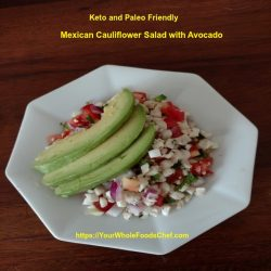 Mexican Cauliflower Salad with Avocado
