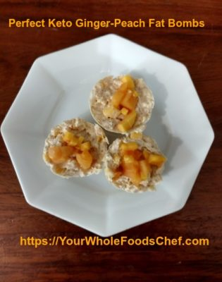Perfect Keto Ginger Peach Fat Bombs